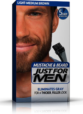 Just for Men Mustache & Beard Gel Medium Brown